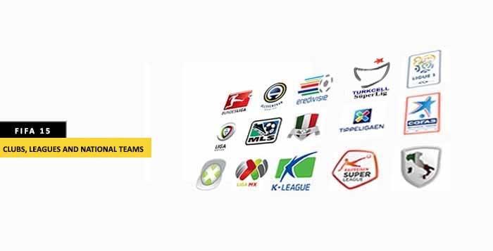 Todos los clubes, ligas y selecciones nacionales de FIFA 15