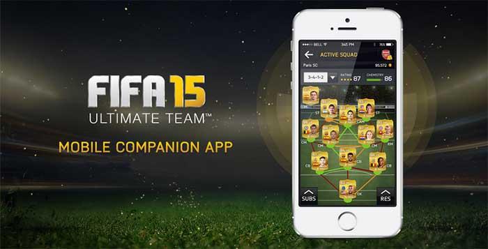 Aplicación Complementaria de FIFA 15 para iOS, Android y Teléfono Windows