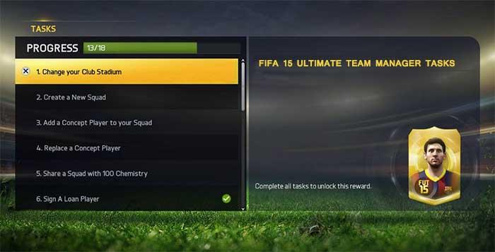Tareas del DT (Director Técnico) en FIFA 15 Ultimate Team