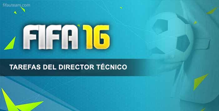 Tareas del Director Técnico en FIFA 16 Ultimate Team