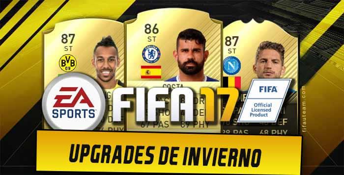 Todas las cartas con Upgrades de FIFA 17 de invierno