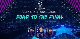Cartas UEFA Champions League Road to the Final de FIFA 19