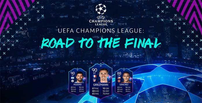 Cartas UEFA Champions League Road to the Final de FIFA 19