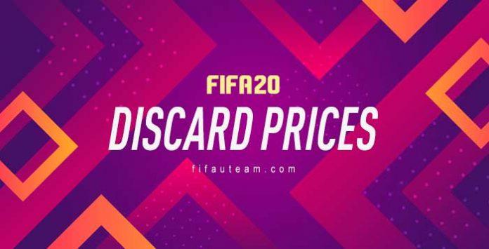 Precios de Descarte en FIFA 20 Ultimate Team