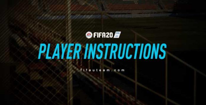 Instrucciones Del Jugador FIFA 20
